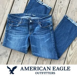 American Eagle Favorite Boyfriend Flare Light 14
